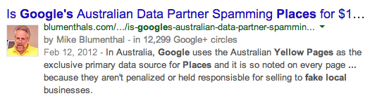 Is Google's Australian Data Partner Spamming Places for $11.00?