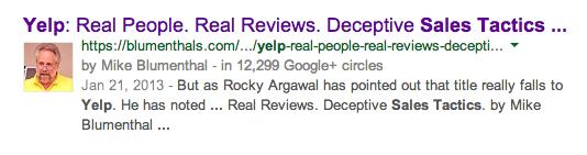 Yelp: Real People. Real Reviews. Deceptive Sales Tactics