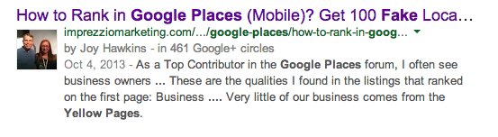 How to rank in Google places with fake local listings