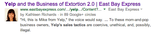 Yelp and the Business of Extortion 2.0