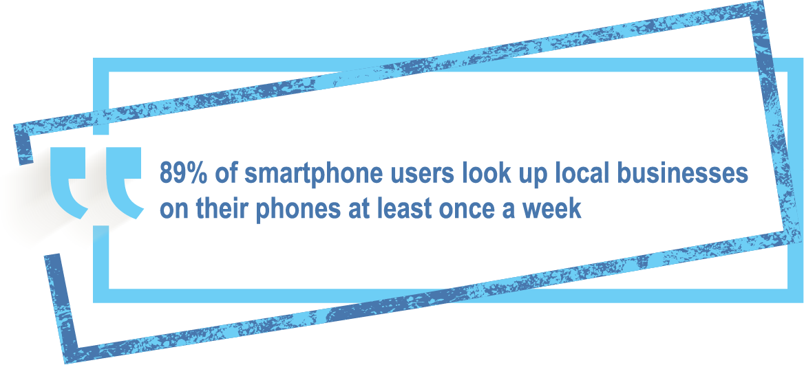 People are using their phones to look up local businesses | Rhino Digital Media